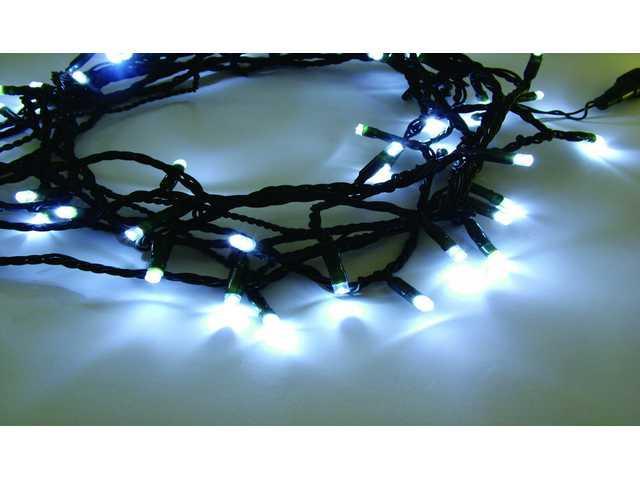 1000L White String-Black Wire