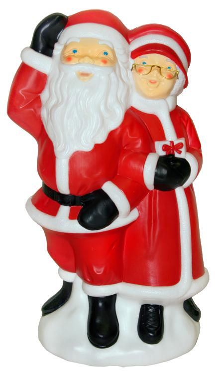 Blowmould-86 cm Mr & Mrs Clause–611333