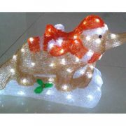 Acrylic-Christmas Platypus on Sled-660001