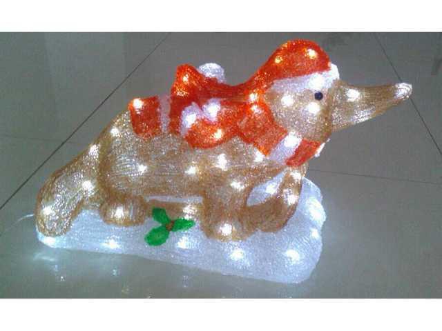 Acrylic-Christmas Platypus on Sled-660001