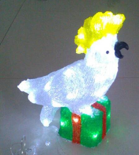 Acrylic-White Cockatoo on Present-660017