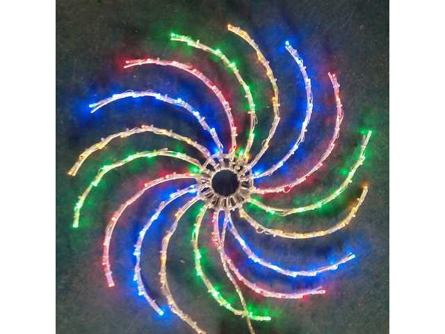 128L Multi Color Spinning  Light-510371