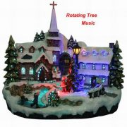 Christmas Village with turning Tree-600560