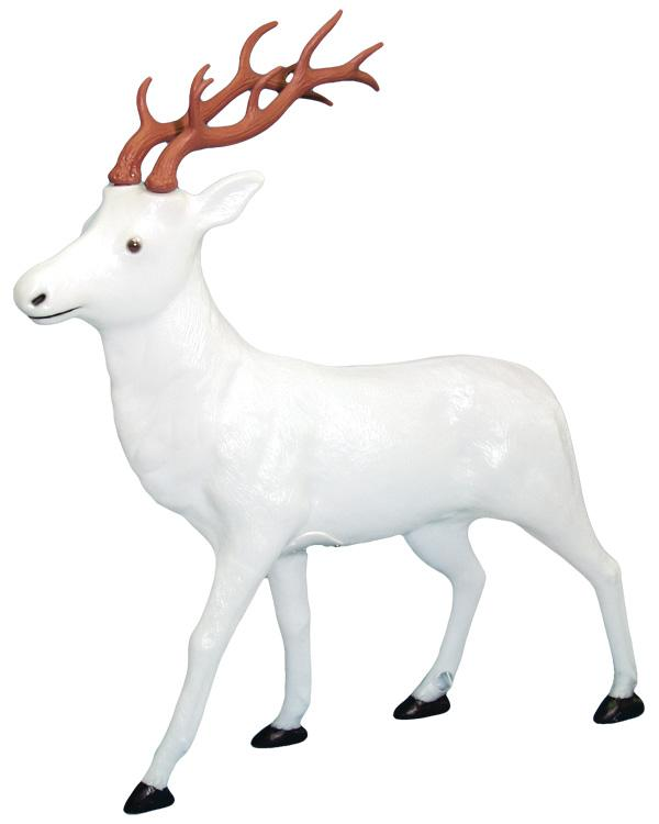 Blowmould-122cm White Reindeer-611740