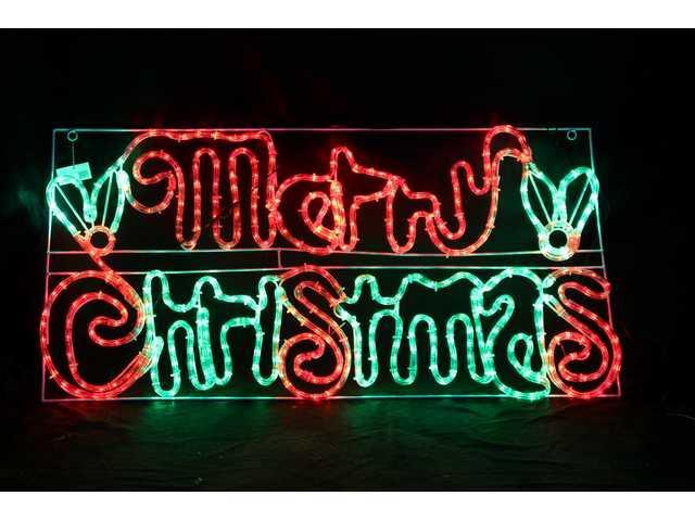 LED Rope Light Merry Christmas Sign-177354 - Christmas ...