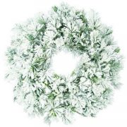 Flocked Wreath-610mm-190199