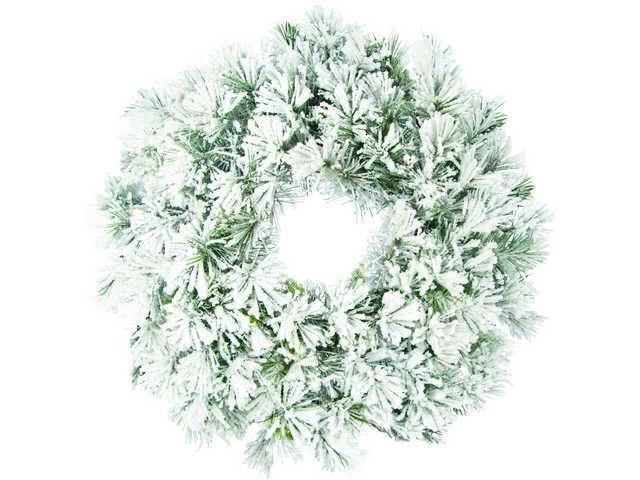 Flocked Wreath-610mm-190199