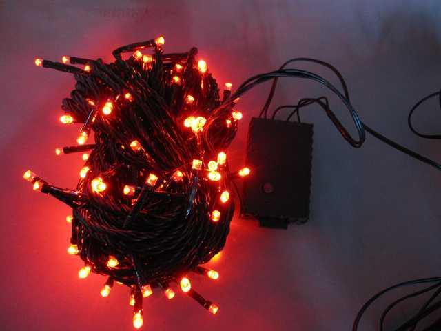 150L String Lights-5 mm Bulb-Red-510275