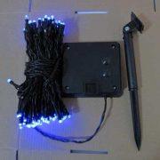 Solar 100L Blue  String Lights-510237