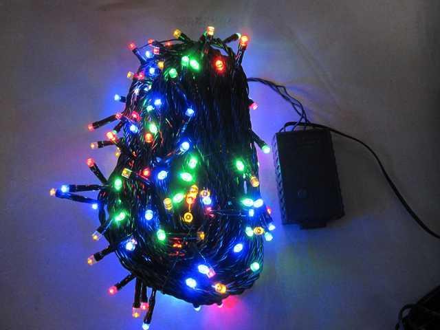 1000L Multi Colour String-Black Wire