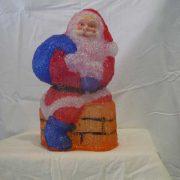 48 Light White Acrylic Santa in Chimney-173748
