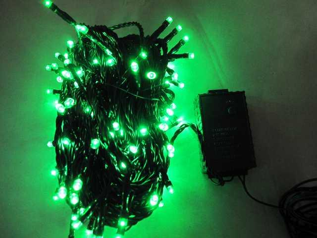 500L Green String-Blacl Wire