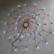 64L Round Net Light-Red & White-510316