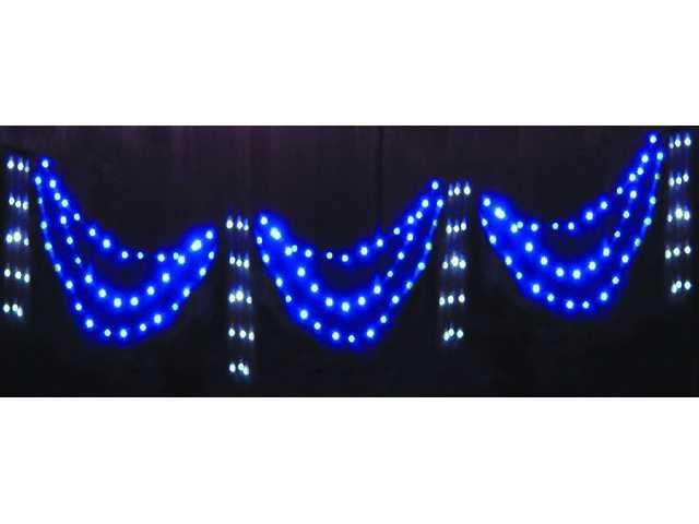 180L Half Circle Curtain Light-Blue & White-510314