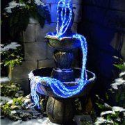 768L White & Blue Waterfall Light--510216